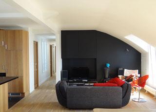 Rénovation d'appartement à Paris : séjour