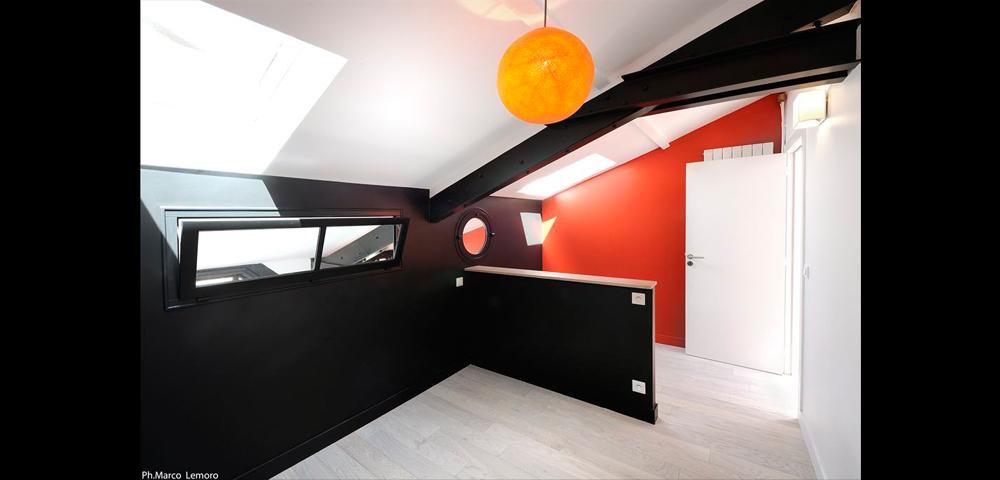 Rénovation d'un loft à Paris et région parisienne : chambre