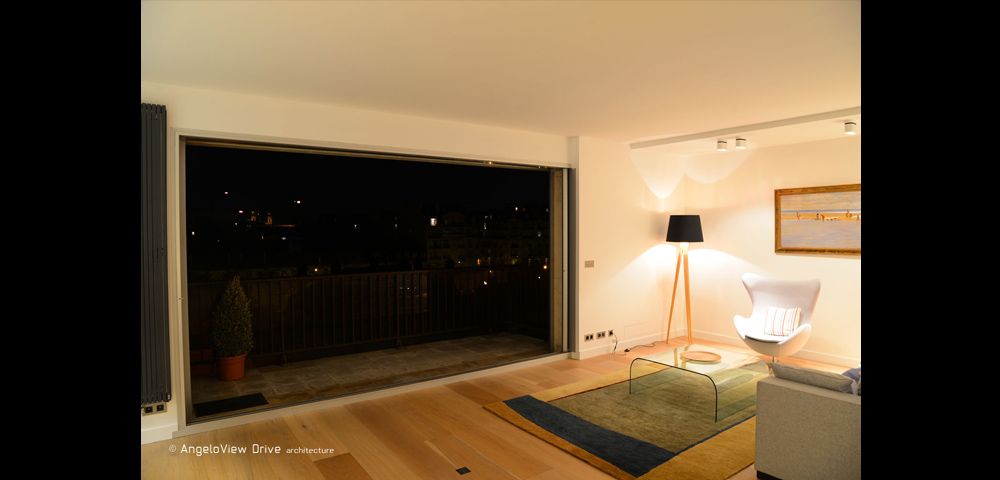 Rénovation d'un appartement haut de gamme à Paris : séjour