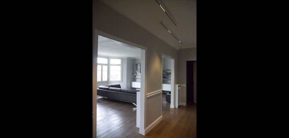 Rénovation d'un appartement haussmanien à Paris : séjour