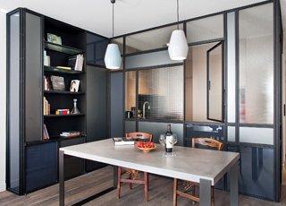 Rénovation d'un appartement design à Paris : salle à manger