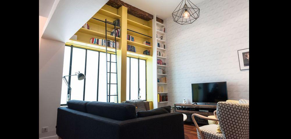 Rénovation d'appartement à Paris 17 : Séjour