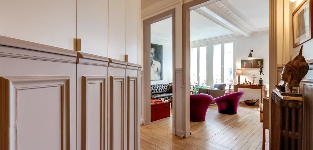 Rénovation appartement paris 18, rue Lepic