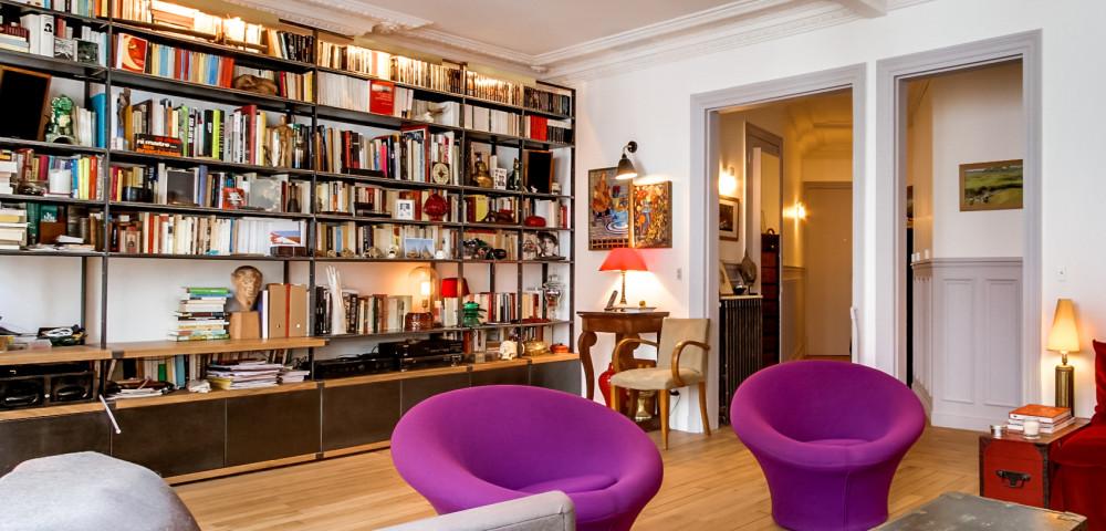 Rénovation appartement paris 18 - salon
