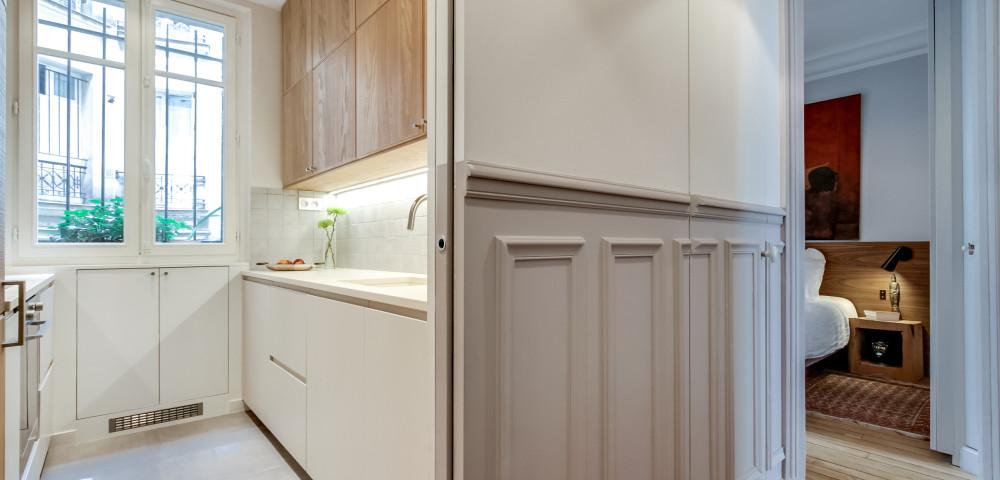 Rénovation appartement paris 18 - cuisine